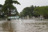 Old Ingham, Queensland, flooded cemetery.