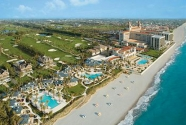 Beach at Breakers Hotel, Palm Beach, Florida.