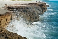 Coastal cliffs at Blowing Rocks Preserve, in Hobe Sound, Martin County, Florida.