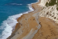 Orange sand, Durdle Door