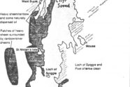 Map of maximum extent of surface oil pollution from the Braer oil spill