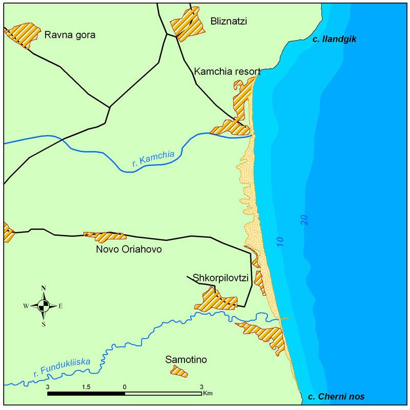Location Of Kamchia Shkorpilovitsi Beach