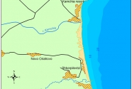 Location of Kamchia-Shkorpilovitsi beach