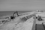fig4. Protective berms being constructed after Katrina