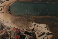 Aerial photograph of La Caleta beach