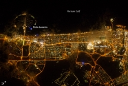 The city of Dubai, night lights.