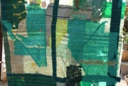 Mary Flynn, detail of sea banner hanging