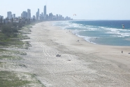 The beach at Gold Coast, Australia, whose width is directly influenced by the rate of sand pumped across the New South Wales-Queensland border. Photo: Andrew Cooper.