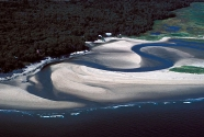 Sprague River inlet, Popham Beach State Park, Maine. A typical undeveloped, Maine tidal inlet. Photo: Joe Kelley.