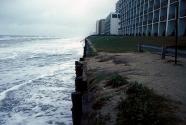 Virginia Beach as a storm erodes a new beach replenishment project. Photo: Joe Kelley.