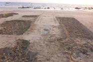 Ngapali beach, mined sand pits.