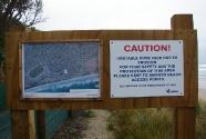 Erosion sign