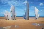 War memorial at Omaha Beach.