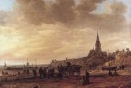 1. Jan Van Goyen\'s , Beach at Scheveningen