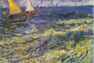 12-2. Vincent van Gogh, Seascape at Saintes-Maries