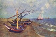 12. Vincent van Gogh, Fishing Boats on the Beach at Saintes-Maries.