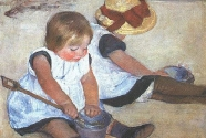 17. Mary Cassatt, Children Playing on the Beach