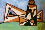 18. Pablo Picasso, Homme et femme sur la plage