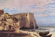 7-2. Gustave Courbet, La falaise d\'Étretat après l\'orage.