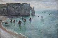 7. Oscar-Claude Monet, Étretat, la porte d\'Aval: bateaux de pêche sortant du port