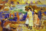8. Pierre-Auguste Renoir: Children on the Beach of Guernesey.
