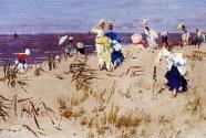 Frederick Hendrik Kaemmerer, Elegant Women On The Beach
