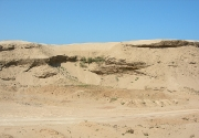 scar-left-from-sand-mine,-Morocco