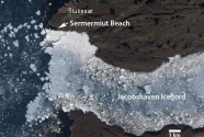 Jacobshaven Icefjord, Sermermiut beach