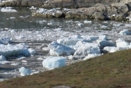 ice-laden tsunami surge on Sermermiut beach