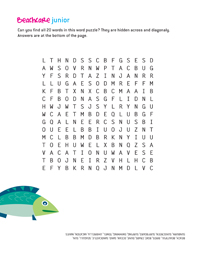 Coastal Care Word Search