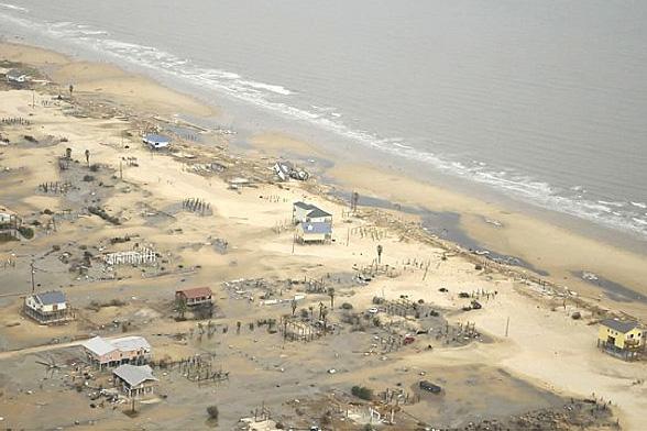Destruction from Hurricane Ike