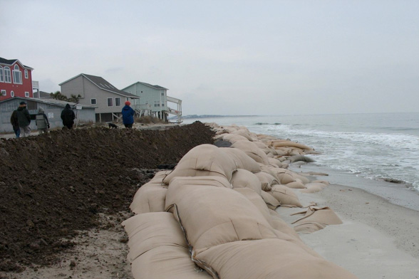 Use of Sand Bags on Beaches