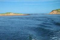 Sea carves new island from Prince Edward Island shore