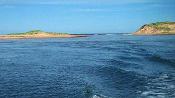 Sea carves new island from Prince Edward Island shore