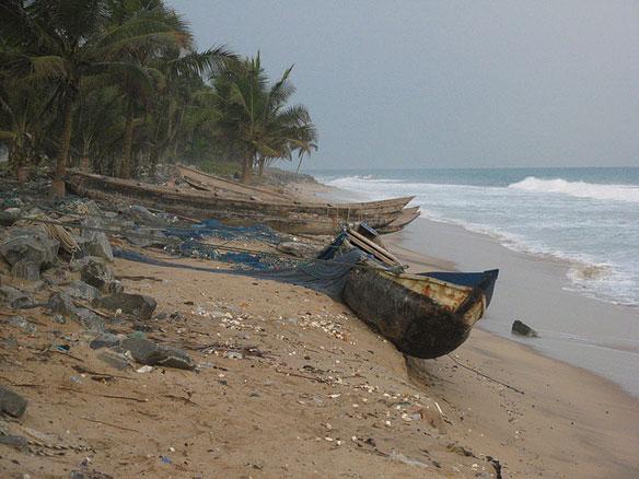Eroding Coastline Ghana