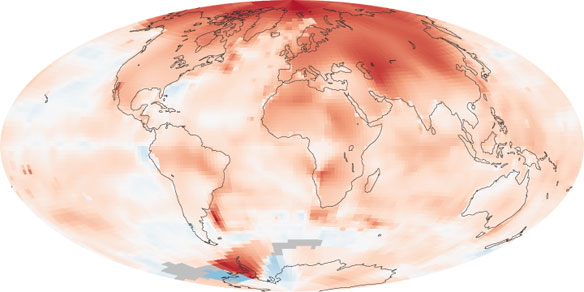 Global Warming Mapped, NASA