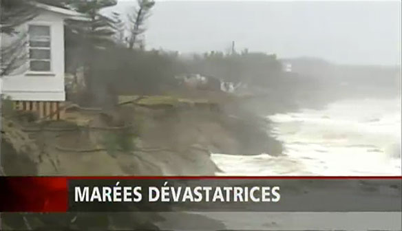 Worsening Coastal Erosion, Québec