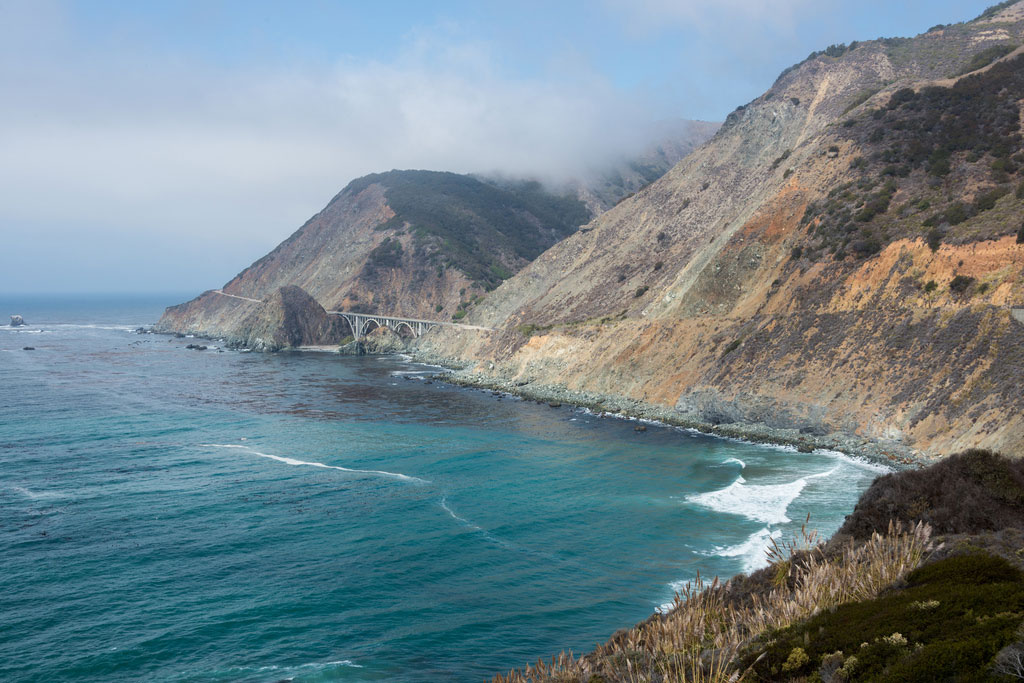 Collapse in Big Sur highway 1, California