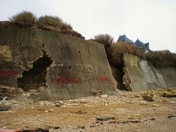 Dilapidated Sea Wall, France