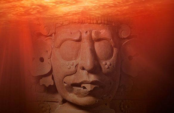 fiery pool mayan art