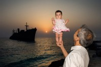 Island of Kish, Iran and Majuro Children, Marschall Islands; By Mark Edward Harris
