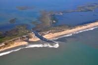 Hurricane Irene Opens New Inlets on Hatteras Island
