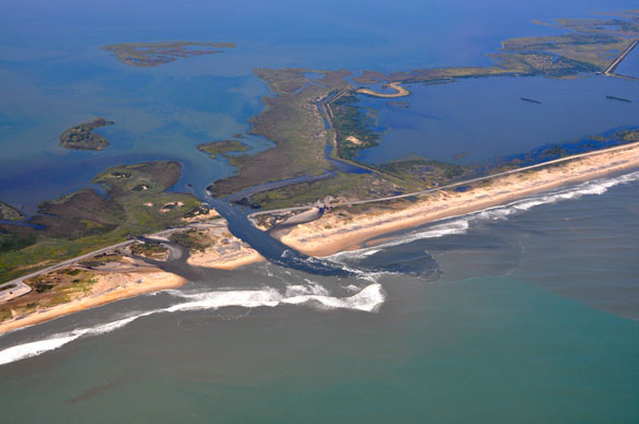 Hurricane Irene Opens New Inlets on Hatteras Island