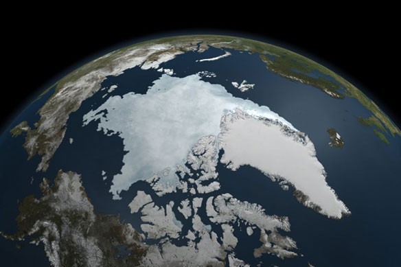 Approaching the 2011 Arctic Sea Ice Minimum, NASA Animation