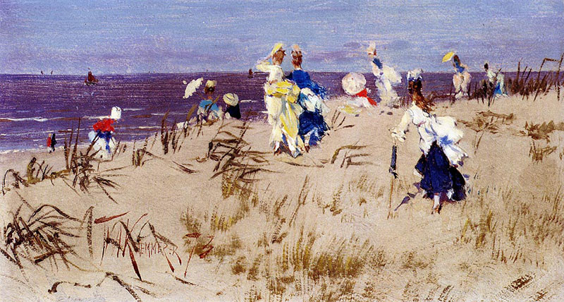 The Great Painters And The Beach