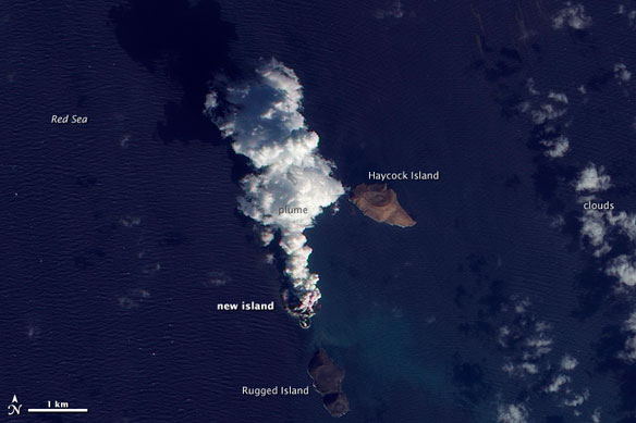 A New Island Emerges From Volcanic Activity in the Red Sea
