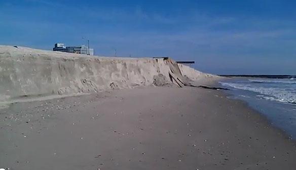 Beach Erosion Causes 18-Foot Cliffs In Atlantic City