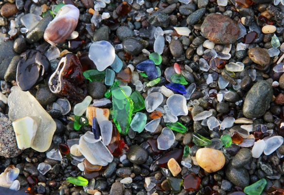 Glass Beach, California; By Denis Delestrac