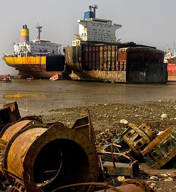 Chittagong Beach Ship Breaking Yards, Bangladesh