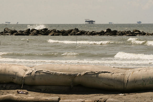 Gulf Eats Away at Coast Outside Levee-Protected New Orleans
